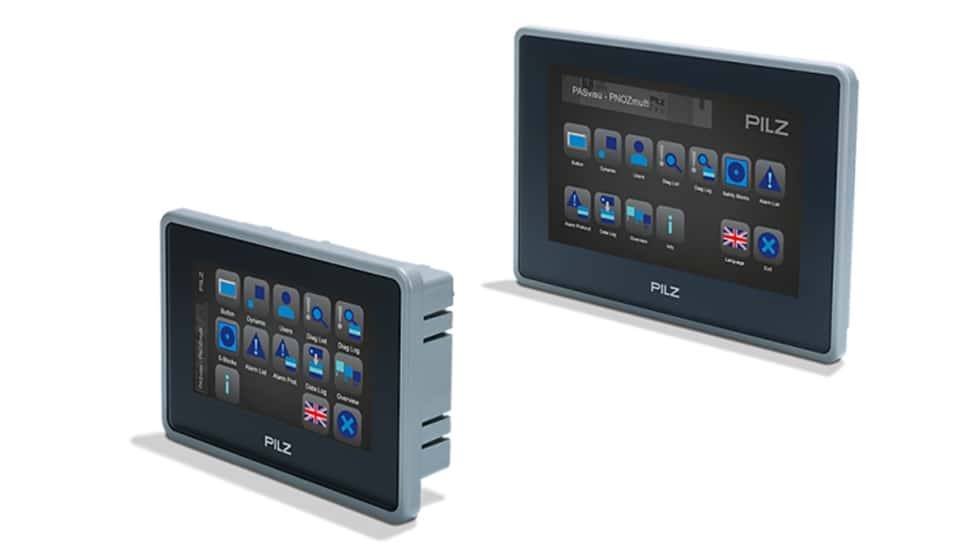 Pilz lanza la nueva gama de paneles PMI v7e low cost para visualización y diagnosis
